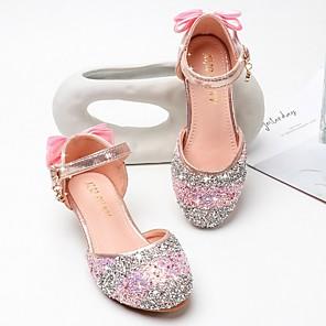 cheap Kids' Sandals-Girls' Sandals Comfort PU Little Kids(4-7ys) Blue / Pink Summer