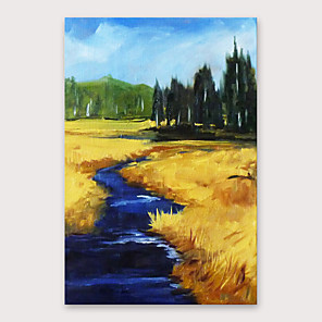 cheap Abstract Paintings-IARTS Hand Painted Rural road Oil Painting with Stretched Frame For Home Decoration With Stretched Frame