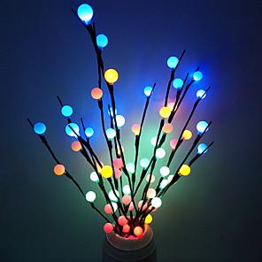 cheap LED String Lights-70cm String Lights 20 LEDs Dip Led 1pc Warm White White Blue Christmas New Year's Decorative Batteries Powered