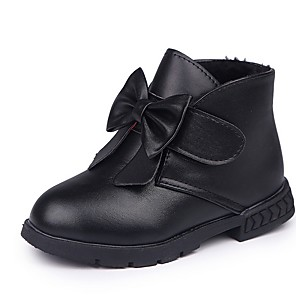 cheap Kids' Boots-Boys' Comfort PU Boots Little Kids(4-7ys) Black / Red Summer / Booties / Ankle Boots