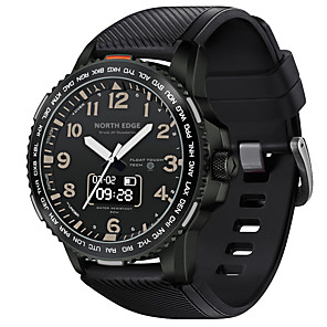 cheap Historical & Vintage Costumes-NORTH EDGE Men's Sport Watch Smartwatch Digital Outdoor Water Resistant / Waterproof Silicone Black Analog - Digital - Black One Year Battery Life / Touch Screen / Heart Rate Monitor / Chronograph