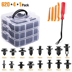 cheap Car Emergency Tools-Cross Border 3-Layer 620pcs Boxed Buckle 16 Kinds 4-Layer 24 Kinds Of Automobile Repair Kit