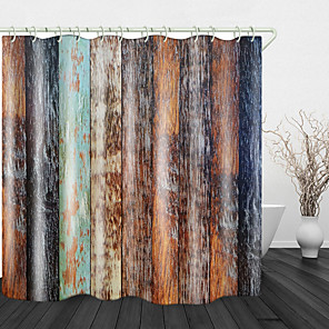 cheap Shower Curtains-Camphor Tree Board Digital Print Waterproof Fabric Shower Curtain For Bathroom Home Decor Covered Bathtub Curtains Liner Includes With Hooks