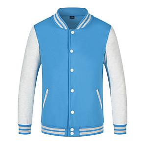 cheap Soccer Shoes-Men's Women's Baseball Jersey Sports Fashion Cotton Jacket Long Sleeve Activewear Breathable Comfortable Black Blue Orange