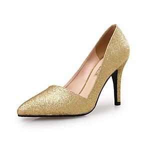 cheap Women's Heels-Women's Heels Pumps Pointed Toe Wedding Party & Evening Gleit Black / Red / Gold
