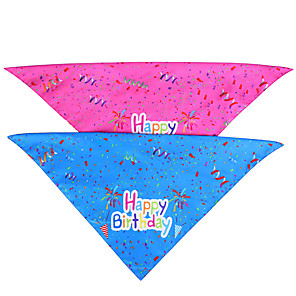 cheap Dog Clothes-Dog Cat Bandanas & Hats Dog Bandana Dog Bibs Scarf Letter & Number Casual / Sporty Cute Christmas Birthday Dog Clothes Adjustable Costume Fabric M