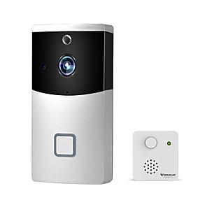 cheap Video Door Phone Systems-V2 Smart Doorbell Wifi Cloud Storage Photo Video Doorbell Mobile Phone Remote Video Doorbell