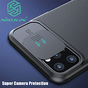 cheap iPhone Cases-iPhone11Pro Max Nillkin Camera Lens Protective Case 11Pro Frosted Touch Hard Phone Case 7 8 SE 2020 Protective Case