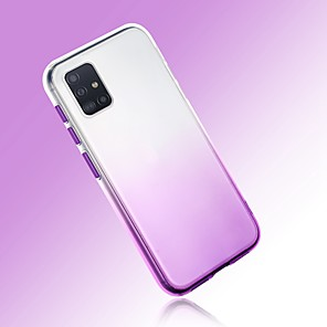 cheap Samsung Case-Case For Samsung Galaxy S20 Ultra Note 10 Plus A10 A20 A30 A50 A70 A21S J6 Plus  J4 Plus  Galaxy A10(2019) Ultra-thin Transparent Back Cover Color Gradient TPU