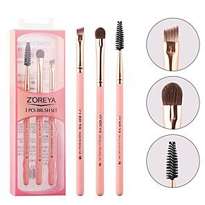 cheap Makeup Brush Sets-Professional Makeup Brushes 3 Pieces Soft Adorable Artificial Fibre Brush Wooden / Bamboo for Lash Brush Eyebrow Brush Eyeshadow Brush Makeup Brush Set