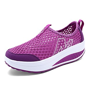 cheap Women's Sandals-Women's Trainers / Athletic Shoes Summer Flat Heel Round Toe Daily Solid Colored Mesh Black / Purple / Fuchsia