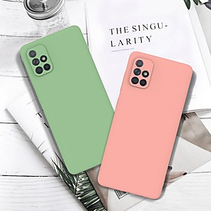 cheap Samsung Case-Case For Samsung Galaxy Note 10 Pro S20 Ultra A91 Ultra-thin Back Cover Solid Colored Grind Arenaceous TPU Case For Samsung Galaxy A21 A01 A71 A81 A51 M40S M30s A10S A20S S10 Plus J4 Plus J6 Plus