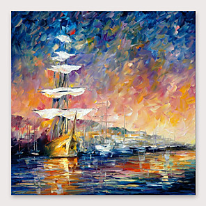 cheap Abstract Paintings-IARTS Hand Painted Sunset glow Oil Painting with Stretched Frame For Home Decoration With Stretched Frame