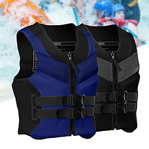 cheap Wetsuits, Diving Suits & Rash Guard Shirts-Life Jacket Fast Dry Wearable Swimming Nylon Neoprene EPE Foam Swimming Water Sports Sailing Life Jacket for Adults