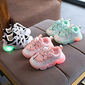 cheap Kids' LED Shoes-Boys' / Girls' Trainers / Athletic Shoes LED Shoes Knit Little Kids(4-7ys) Black / Pink / Green Summer / Rubber