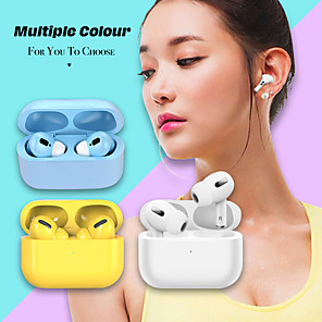 cheap TWS True Wireless Headphones-LITBest Macaron TWS 3 True Wireless Earbuds Bluetooth 5.0 Headphones Wireless Charging Rename GPS Find My Devices (iOS) 1 to 1 Replica for Android iOS Windows Smartphones