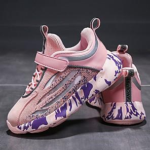 cheap Kids' Sandals-Girls' Trainers / Athletic Shoes Comfort Mesh Little Kids(4-7ys) Black / Pink / Beige Summer