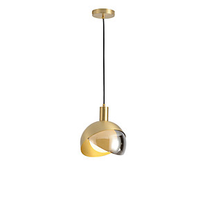 cheap Pendant Lights-20 cm Single Design Pendant Light Glass Glass Electroplated Modern Nordic Style 110-120V 220-240V