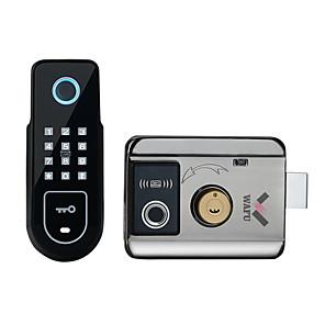 cheap Door Locks-WAFU  Double Fingerprint Electronic Door Lock with Password for Home Courtyard Hotel Smart Remote Control Lock(WF-02)