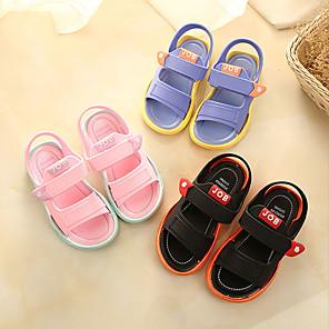 cheap Kids' Sandals-Boys' / Girls' Sandals Comfort PU Little Kids(4-7ys) / Big Kids(7years +) Black / Blue / Pink Summer / Fall / Rubber