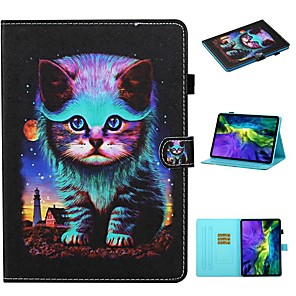 cheap iPad case-Case For Apple iPad Pro 11 2020 ipad 10.2 Air 10.5 2019 mini 12345 2017 2018 9.7 Card Holder with Stand Flip Full Body Cases Cat PU Leather
