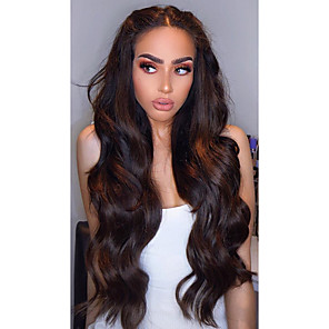 cheap Human Hair Weaves-3 Bundles Hair Weaves Brazilian Hair Body Wave Human Hair Extensions Human Hair 300 g Weave 10-24 inch Brown Natural