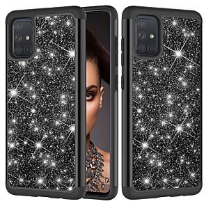 cheap Samsung Case-Case For Samsung A20 A30 A50 A30S A50S A10E A20E A6 (2018) J7 (2018) J3Prime J7Prime J7 (2016) J7 (2017)Shockproof Glitter Shine Back Cover Solid Colored Glitter Shine TPU  PC