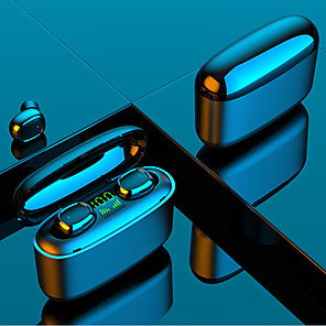 baratos TWS Fones de ouvido sem fio verdadeiros-litbest g5s tws true sem fio bluetooth5.0 fones de ouvido impressão digital toque power bank hifi som display digital tela assistente de voz ipx7 fone de ouvido à prova d'água com 3500mah caixa de car