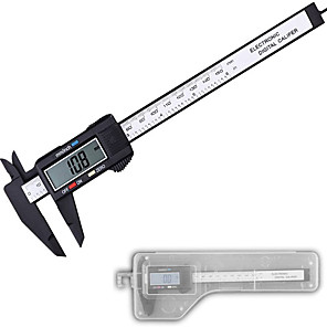cheap Level Measuring Instruments-Electronic digital display vernier caliper 0-150mm plastic digital caliper measuring tool for measuring inner diameter and outer diameter