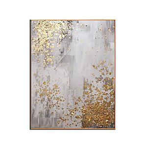 cheap Oil Paintings-Pure Hand painted Modern gold canvas Oil Paintings wall painting Abstract gold Oil Painting art picture Living Room home Decoration