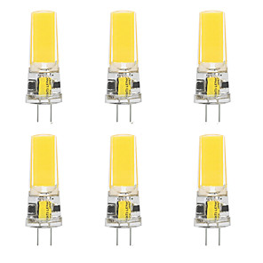 cheap LED Bi-pin Lights-6pcs 10 W LED Silica Gel Corn Lights LED Bi-pin Lights  G4 2508COB High Power LED Creative Party Decorative Crystal Chandelier Light source Energy-saving Light Bulbs Warm White White AC/DC12 V