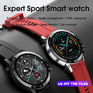 cheap Smartwatches-S16 Smart Watch 1.3 inch HD Touch Screen Men Watches 6 Style Straps Matching Health Monitoring Smartwatch For iOS Android