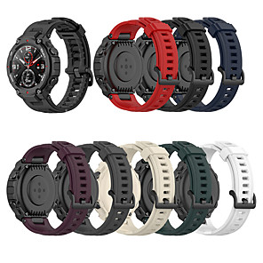 cheap Smartwatch Bands-Soft Silicone Watch Band For Amazfit T-Rex Smart Watch Bracelet Replacement Wristband Adjustable Sports Watch Strap