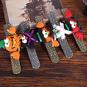 cheap Halloween Toys-Halloween Party Toys Halloween Slap Bracelet Slap Wristband 5 pcs Cat Pumpkin Witch Vampire Luminous Masquerade Random Style with Light Fabrics Kid's Adults Trick or Treat Halloween Party Favors