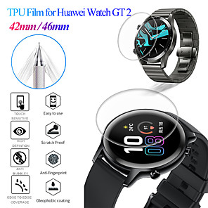 cheap Smartwatch Bands-2Pcs For HUAWEI WATCH GT2 42mm 46mm  TPU Protective Film Screen Protector (Not Tempered Glass)