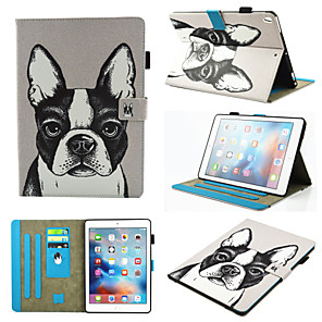 cheap iPad case-Case For Apple iPad Air / iPad (2018) / iPad Air 2 360° Rotation / Shockproof / Magnetic Full Body Cases Dog / Panda PU Leather / TPU / iPad (2017)