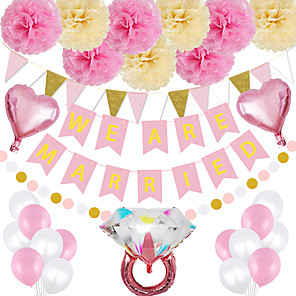 cheap Stuffed Animals-Party Balloons 17/29 pcs Bride To Be Bachelor Party Supplies Latex Balloons Banner Boys and Girls Party Wedding Decoration 12-18inch for Party Favors Supplies or Home Decoration