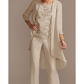 cheap Wedding Wraps-3/4 Length Sleeve Shrugs Chiffon Wedding / Party / Evening Women's Wrap With Solid