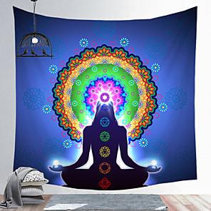 cheap Bathroom Gadgets-Indian Buddha Statue Meditation 7 Chakra Tapestry Wall Hanging Mandala Tapestries Wall Cloth Psychedelic Yoga Carpet
