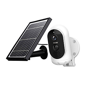 cheap Micro Cameras-ESCAM G12 1080P Full HD Solar Camera 2 mp Wireless 6000mAH  Battery Outdoor Rechargeable Solar Panel PIR Alarm WiFi Camera Two-Way Audio IP65 Day Night Vision Security Camera