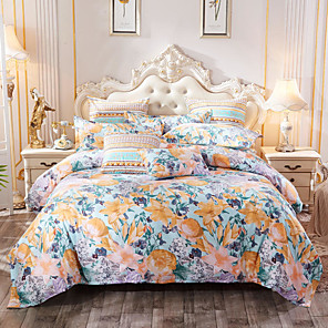cheap Throw Pillow Covers-4 Pieces Duvet Cover Bedding Set -Ultra Comfy Breathable Zipper Easy Care