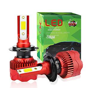 cheap Car Headlights-2pcs/set H7 LED H4 COB H1 H8 H11 H3 9005 9006 H9 9012 48W Car Led Auto Headlight Fog Bulb High Low Beam Spot Light HeadLamp 6000K 12V