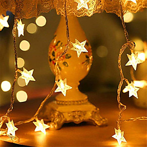 cheap LED String Lights-6M 40LED Star LED String Lights USB Powered Fairy Lights Christmas Wedding Holiday Party Decoration Light