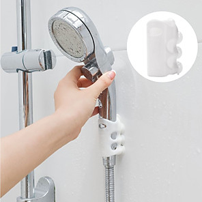 cheap Bathroom Gadgets-2pcs Shower Head Holder Wall Suction Bracket Home Bathroom Silicone Shower Sucker Removable Accessories Punch-free Solid suction cup
