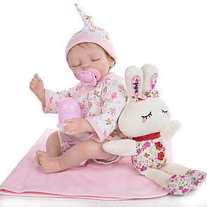 cheap Inflatable Ride-ons & Pool Floats-KEIUMI 16 inch Reborn Doll Baby & Toddler Toy Reborn Toddler Doll Baby Girl Gift Cute Lovely Parent-Child Interaction Tipped and Sealed Nails Half Silicone and Cloth Body with Clothes and Accessories