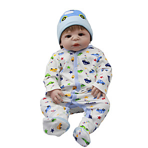 cheap Dolls Accessories-Reborn Baby Dolls Clothes Reborn Doll Accesories Cotton Fabric for 22-24 Inch Reborn Doll Not Include Reborn Doll Car Soft Pure Handmade Boys' 3 pcs