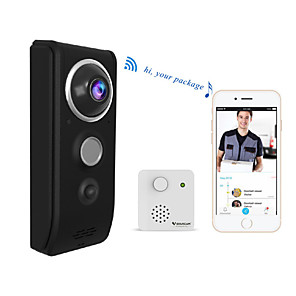 cheap Video Door Phone Systems-Vstarcam 720P Video Doorbell Camera Wifi Video Doorbell Call Intercom Infrared Night Vision Doorbell Security Monitoring