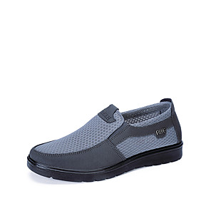 cheap Men's Slip-ons & Loafers-Men's Summer / Fall Casual / Preppy Daily Outdoor Loafers & Slip-Ons Mesh Non-slipping Wear Proof Black / Gray / Coffee