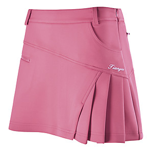 cheap Soccer Jerseys, Shirts & Shorts-Women's Girls' Female Tennis Golf Leisure Sports Outdoor Exercise Skirt Skort Bottoms Solid Colored Breathable Quick Dry Comfortable Spring Summer Fall Sports & Outdoor Outdoor / Cotton / Stretchy