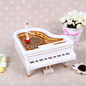 cheap Music Boxes-Music Box Ballerina Music Box Musical Jewellery Box Cartoon Heart Ballet Dancer Dancing Rotating Unique Kid's Adults Kids Gift Women's Unisex Girls' Gift